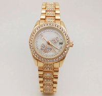 Wholesale Valentine Diamonds - Fashion Ladies Luxury brand watch for women Quartz Diamond butterfly watches Stainless Steel band Wristwatches Valentine Gift Montre Femme