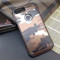 Wholesale oppo for for sale - Camouflage PC TPU Smart Phone Case Back Cover For Iphone Samsung S8 Xiaomi Huawei LG Ipad Asus OPPO Vivo With retail packaging