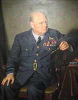 Wholesale Pan Figure - Arthur Pan,WINSTON CHURCHILL with Glasses in his hand,HD Art Print Portrait Oil Painting Quality Canvas Home Wall Decor,Multi size yzha