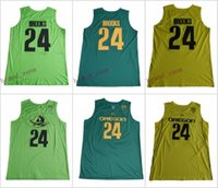 Wholesale Brook S - Oregon Ducks #24 Dillon Brooks Stitched College Green Yellow Home Road Alternate Men Basketball Jerseys