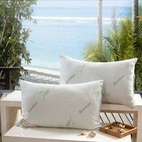 bambu boyunlu yastık toptan satış-Toptan-Bambu elyaf yastık / Atmak yastıklar / ışık Yastık / Sıfır Basınç Bellek Yastık Boyun Sağlık / Yastık /
