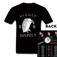 Maglietta Hip Hop T-Shirt Highly Suspect Rock Band Concert World Tour T-shirt Maglietta personalizzata T-Shirt Estate Hot Sell TShirt per le donne Mens