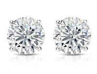 Wholesale moissanite diamond earrings - 2CT Charles & Colvard 14K White Gold Moissanite Stud Earrings