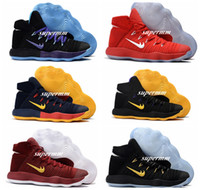 Wholesale Hyperdunk Shoes - 2017 Hyperdunk High Cut Olympic Knit Air Cushions Basketball Shoes Sneakers Mens Brand Shoe Light Mesh Energy Boost Trainers Boot
