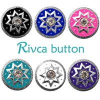 Wholesale Snake Ring Women - D02724 Rivca Snap Button charms Jewelry High quality crystal 18mm Metal Noosa chunk Rhinestone Styles Ginger Snaps Bracelets For Women
