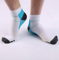 Wholesale Pain Socks - 2pcs pair Veins Socks Compression Socks With Spurs Arch Pain Unisex Cotton Thermoskin FXT Plantar Socks Foot Care Supplies CCA6572 500pair