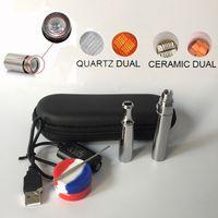 Wholesale Drip Tip Zipper - Puffco Skillet V2 Best e cig with metal Drip tip quartz ceramic coil Wax cartridge zipper case dab tool vs Yocan evolve