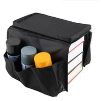 Wholesale Sofa Storage - Fold-down Sofa Edge Bed Hang Storage Bag Multilayer 6 Pockets Organizer Sorting Bags For Remote Control Magazines