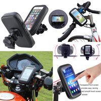 Bicicleta bicicleta chuva impermeável Handlebar Case Mount Holder motocicleta Zipper saco bolsa para Iphone 6 Plus 5.5