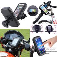 "Wholesale Iphone Rain Case - Bike Bicycle Rain Waterproof Handlebar Case Mount Holder Motorcycle Zipper Bag Pouch For Iphone 6 Plus 5.5"" Galaxy S8 S7"