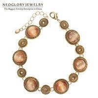 Wholesale Neoglory Vintage - Wholesale- Neoglory Austrian Rhinestone Opal Retro Vintage Bracelets & Bangles for Women Vintage Jewelry Fashion 2017 New JS10