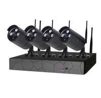 système de surveillance hdd achat en gros de-4CH sans fil NVR 960P IR en plein air P2P WIFI 4 PCS 1.3MP CCTV Système de Surveillance de Système de Surveillance Kit avec 1 To HDD