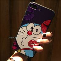 Wholesale Super Mario Iphone - For Iphone7 Cartoon Cell Phone case Doraemon Super Mario reliefs lovely Mobile phone cases For Iphone6 6s 7plus Back Cover shell Free DHL