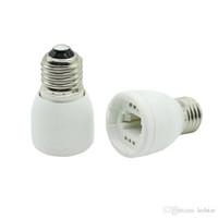 cfl halogenfassung großhandel-E27 bis G24 Sockel LED Halogen CFL Glühlampe Lampen Adapter Konverter Hochwertiges feuerfestes Material