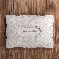 Wholesale White Embossed Wedding Invitations - Wholesale-(10 pieces lot) New Elegant Wedding Invitation Card White Color Flower Embossed Invitations With For Wedding Day CW5230
