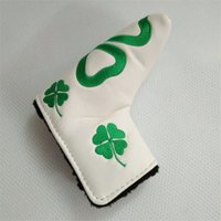 Wholesale Leather Putter Headcovers - Heart embroidery golf putter headcovers white waterproof PU leather heart golf head cover putter clu