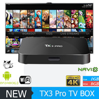 Original TX3 PRO Android 7.1 TV Caja Amlogic S905X KD 17.3 Krypton cargado WiFi Construir 1 GB 8 GB Mejor X96 MXQ PRO