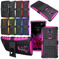 Wholesale Optimus G Covers Stand - HEAVY DUTY TOUGH SHOCKPROOF WITH STAND CASE COVER FOR for LG V10 V20 K10 K7 g2 G4 G3 Stylus LG Leon C40 C70 G Flex 2 F340 Optimus L70