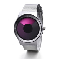 Wholesale Concepts Fashion - No pointer concept vortex waterproof watch ms male noctilucent contracted male students personality fashion wrist watch