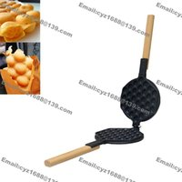 Free Shipping Commercial Home Use Nonstick Hongkong Eggettes Oeuf Puff Bubble Waffle Fer Moule Plaque Pan
