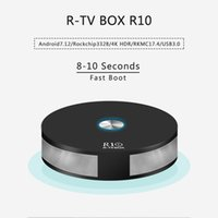R TVBox R10 rockchip RK3328 android 7.1.2 OS RKMC 17.4 double bande wifi 2.4g 5g AC bluetooth 4.1 usb 3.0 HDR10 démarrage rapide 2GB 16GB eMMC tv box