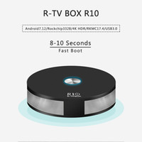 Wholesale Core Ac - R TVBox R10 rockchip RK3328 android 7.1.2 OS RKMC 17.4 dual band wifi 2.4g 5g AC bluetooth 4.1 usb 3.0 HDR10 fast boot 2GB 16GB eMMC tv box