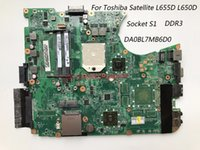 Wholesale laptop motherboards satellite - Classy Quality Laptop Motherboard For Toshiba Satellite L655D L650D Motherboard A000076380 Socket S1 DDR3 Fully Tested