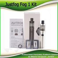 ingrosso batteria justfog-Kit originali Justfog FOG1 Starter con batteria 1500mah con bobina antigitello progettata Autentica nebbia 1 kit e cigs pen 100% autentico 0209623