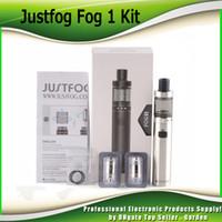 justfog batterie großhandel-Original Justfog FOG1 Starter Kits mit 1500mAh Batterie mit speziellem Anti-Spit Coil
