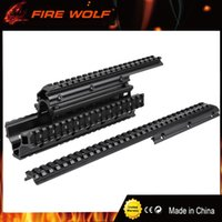 Wholesale Rail Mount Accessories - FIRE WOLF Aluminum Saiga 12-Gauge Accessory Mount System Forend with 2 Top Slots Attach Optics and Accessories