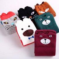 Wholesale Dance Knee High Socks - Children cotton stockings cartoon cat bear Knee-high socks student dance knitting girls socks free shipping WA1679
