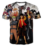 Wholesale Anime Boy One Piece - Newest Design Anime Heroes 3D Printed T shirt Classic Naruto One Piece Luffy Tshirts Men Boy Harajuku Summer Hipster Tee Tops