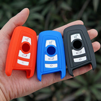 Wholesale Bmw Silicone - silicone Rubber key fob cover case wallet for BMW M1 M2 M3 F05 F10 F20 F30 335 328 535 650 740 remote holder protect accessories