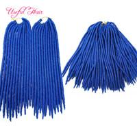 Wholesale janet braiding hair for sale - Janet Collection strands Fauxlocs Braid Crochet Hair extensions Inch Dread Faux Locs Braids synthetic braiding hair