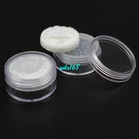 Wholesale Powder Sifter Containers - 50pcs lot 20g Round Powder Sample Jar With Lids And Sifters Pancake Makeup 20ML Powder Case With Puff Cake Container Storage Jar