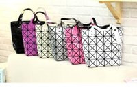 Wholesale N Handbags - Free shipping wholesale new geometric folding package Ling grid laser n package 6 grid single shoulder ladies handbag