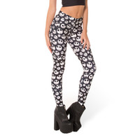 ingrosso ragazze lycra elastiche-All'ingrosso-Nuovo arrivo 3285 Sexy Girl Women Halloween Jack Skellington Nightmare Before Christmas 3D Prints Pantaloni Elastic Fitness Leggings