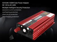 Wholesale Solar 12v Ac Converter - XUYUAN Car Vehicle 1500W DC 12V to AC 220V LED Display Solar Power Inverter Power Supply Adapter Converter System 189966201