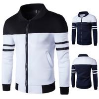 Wholesale Overcoat Hoodie Men - 2017 Spring Autumn Hoodies Sportswear Casual Solid Fashion Slim Bomber Jacket Men Overcoat Baseball Men's Zipper Jackets CL311