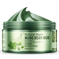 Wholesale Wholesale Natural Facial Masks - 120g Natural Face Mask Mung Beans Mud Oil Control Facial Mask Moisturizing Face Masks Skin Care Beauty Make Up Products