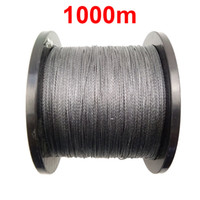 Wholesale 1PC m Yards PE Braided Fishing Line Grey Strands Braid Multifilament Super Strong Fishing Lines LB LB