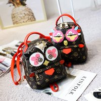 Wholesale Owl Purses Backpacks - Cartoon Kids backpack Cute owl floral printed backpack European and American style Womens mini backpacks Girls Bags C2386