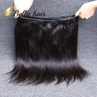 7A Indian Hair Bundles Unprocessed Virgin Natural Color Cheveux Humains Weaves Double Weft Silky Straight Bella Hair 2 Bundles Livraison gratuite