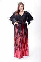 Wholesale Ice Silk Dresses Plus Size - New Arrival Women's Ice Silk Loose Plus Size Dress Deep V Neck Beach Dress XL to 6XL
