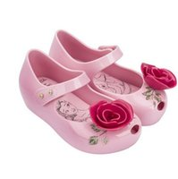 Wholesale Jelly Flower Heels - New Beauty Beast Mini Melissa Jelly Sandals Girl Princess Sandals Rose Flower Teacup Teapot Design 15-18cm Size 24-29 Retail