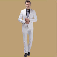 Wholesale Cheap Formal Jackets Men - New Arrival Wedding Groom Tuxedos (Jacket+Vest+Pants) Men Suits Custom Made Formal Suit for Men Wedding Bestmen Tuxedos Cheap 2016 -2017