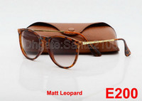 Wholesale Oval Boxes - High Quality Fashion Sunglasses For Mens Womens Eyewear Designer Sun Glasses Matt Leopard Gradient 52mm Lenses With Better Brown Cases Boxes