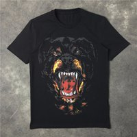 Wholesale Dog Women - New Fashion Rottweiler dog print famous luxury brand given tee t shirts for men women cotton free shipping