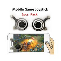 Wholesale Suck Iphone - New Fling Mini Dual Analog Mobile Joysticks Touch Screen Game Controller Cell phone Game Rocker sucking for iPhone iPad Pod with Retail Box