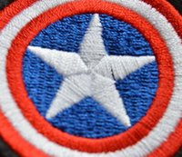 Wholesale Captain Iron Patch - HOT SALE! Captain America Iron On Patches Made of Cloth Appliques Guaranteed 100% Quality sew on patch